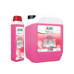 Tana Ivecid szaniter tisztítószer literes flakon és 10 literes kanna kiszerelésben