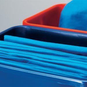 Mikroszálas törlőkendő kék színben