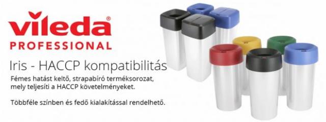 Fémes hatású hengeres hulladékgyűjtők többféle színű fedővel.