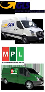 Csomagkiszállító partnereink a GLS és MPL futárszolgálatok.