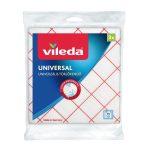 Termékfotó: fehér színű törlőkendő piros csíkos mintával a Viledától 3 darabos kiszerelésben.