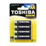 Termékfotó: Toshiba AA éretű alkáli elem 4 darabos csomagolásban